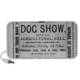 Poster advertising Cruft's Dog Show Portable Speakers