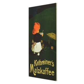 Poster advertising for 'Kathreiner's Malt Coffee' Stretched Canvas Prints