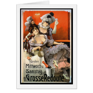Poster Advertising 'Grosse Redoute' (colour litho) Greeting Card