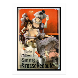 Poster Advertising 'Grosse Redoute' (colour litho) Postcard