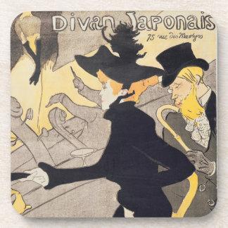Poster advertising 'Le Divan Japonais', 1892 Drink Coasters