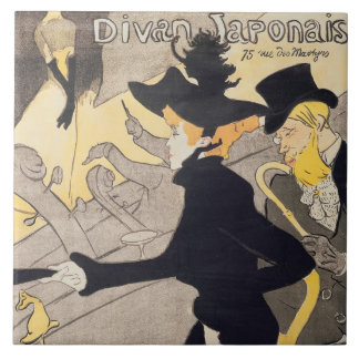 Poster advertising 'Le Divan Japonais', 1892 Tile