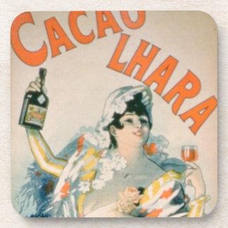 Poster advertising 'Lhara Creme de Cacao', Digon ( Coaster