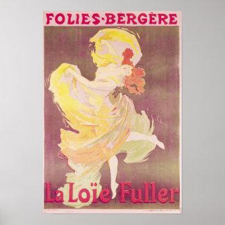 Poster advertising Loie Fuller