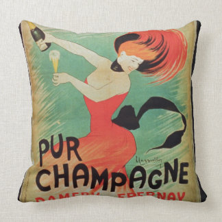 Poster advertising 'Pur Champagne', from Damery, E Cushions