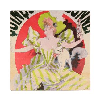 Poster advertising Quinquina Dubonnet' Wood Coaster