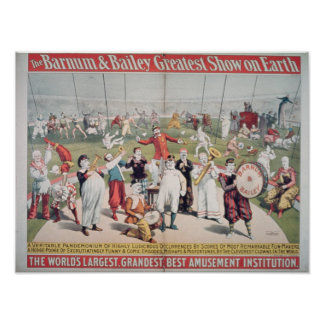 Poster advertising the Barnum