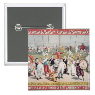 Poster advertising the Barnum 15 Cm Square Badge