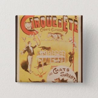 Poster advertising the Cirque d'Ete in the 15 Cm Square Badge
