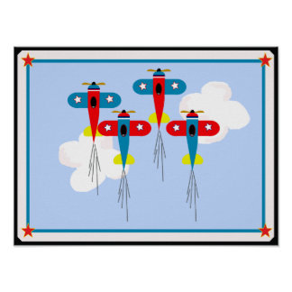 POSTER AIRPLANES