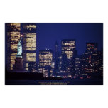 Poster / An evening view of the New York skyline