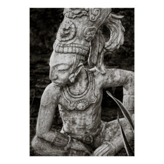 Poster - Ancient Mayan Figure - Mexico