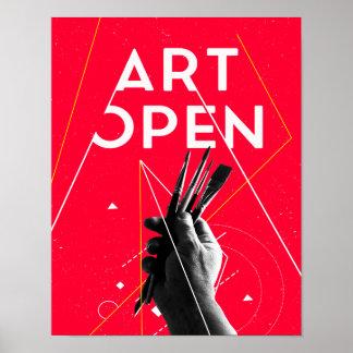 """Poster """"Art open"""""""