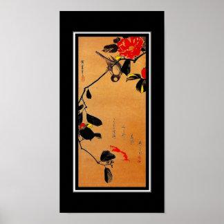 Poster Asian Vintage Art Utagawa Hiroshige, Japan