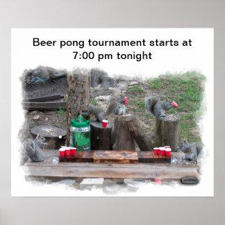Poster  - Beer pong challenge tournament