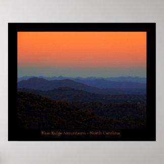 Poster - Blue Ridge Mountain, North Carolina