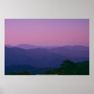 Poster Blue Ridge Mountains - North Carolina...