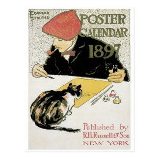 Poster Calendar 1897 Postcard