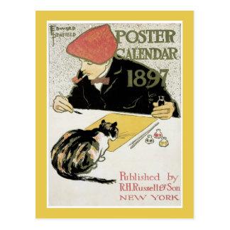 Poster Calendar postcard