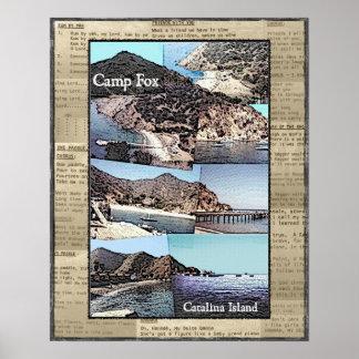 Poster: Camp Fox Photos with Song Lyrics Poster