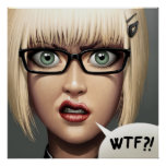 POSTER/CANVAS PRINT · wtf?!