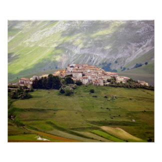 Poster Castelluccio in Umbrien - Italy