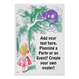 """Poster: """"Cheshire Cat"""" from """"Alice in Wonderland"""" Poster"""