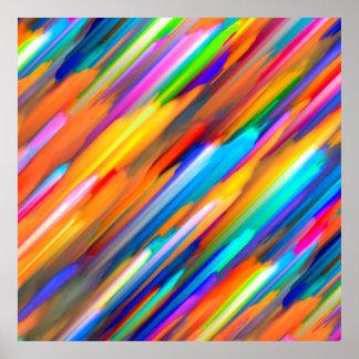 Poster Colorful digital art splashing G391