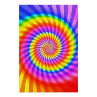Poster: Colorful Spiral Pattern Poster