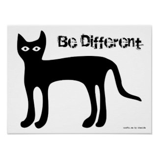 Poster - Copy Cat, Be Different