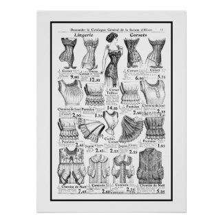 Poster Corsets 1909-1910 Advertisement