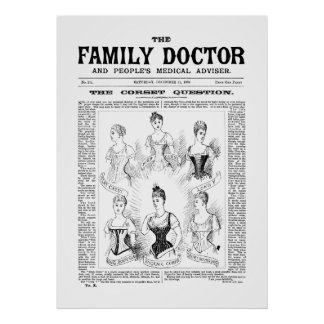 Poster Corsets The Family Doctor Dec 21 1889