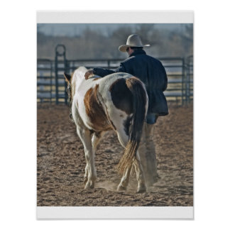 Poster cow servant boy horse