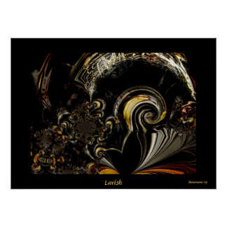 Poster Digital Abstract Art Lavish