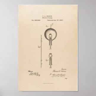 Poster / Edison Light Bulb Patent