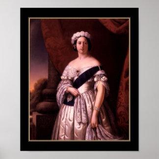 Poster Famous Vintage Queen Victoria 1845