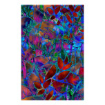Poster Floral Abstract Stained Glass