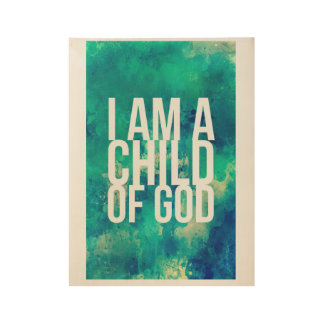 Poster for Christians: I am a child of God