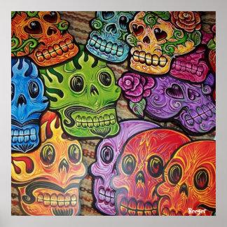 Poster (framed) - Mexican Sugar Skull