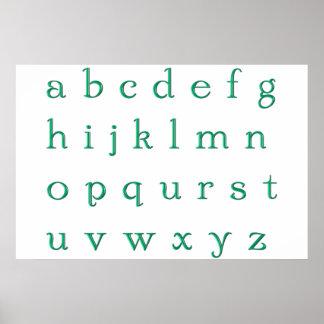 Poster green alphabet