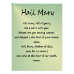 Poster ~ Hail Mary Christian Prayer