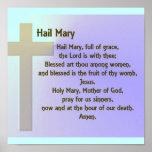 Poster-Hail Mary Prayer Poster