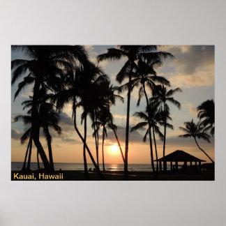 Poster - Hawaii Beach Sunset
