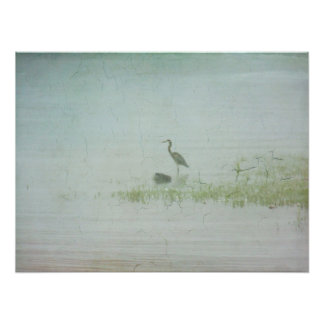 Poster-Heron in the Mist