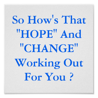 """poster  """"HOPE"""" And """"CHANGE"""""""