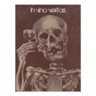 Poster In vino veritas = In wine, Truth Skeleton