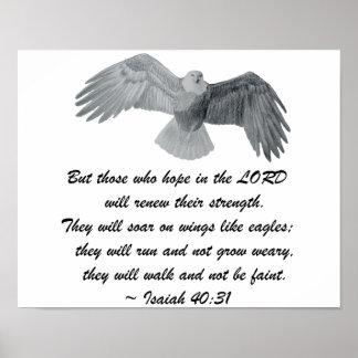 Poster - Isaiah 40:31 Eagle