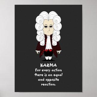 Poster. Karma & Newton's 3rd Law (Dark Background) Poster