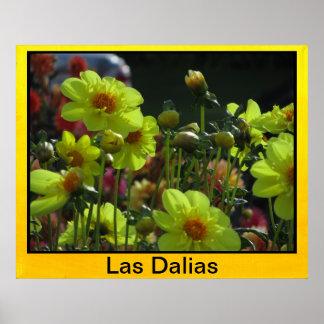 Póster - Las Dalias Amarillas Print