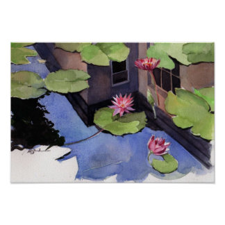 poster, Lilly pads